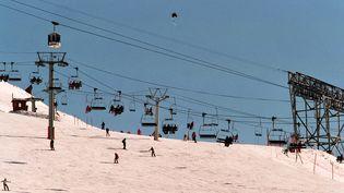 La station de ski des Deux-Alpes, en Isère, le 1er février 2006. (MAXPPP)