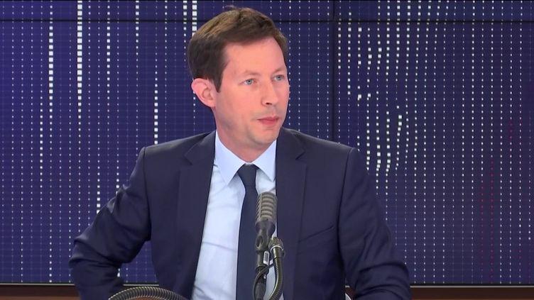 L'eurodéputé Les Républicains, François-Xavier Bellamy, était l'invité de franceinfo, mercredi 15 juillet. (FRANCEINFO / RADIO FRANCE)