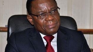 Maurice Kamto, à Yaoundé, le 14 août 2018. (REINNIER KAZE / AFP)