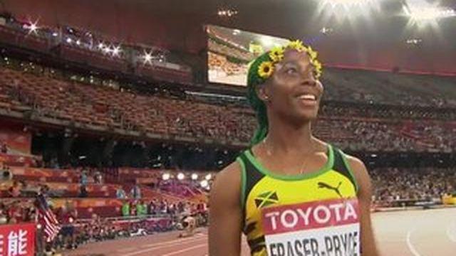 Shelly-Ann Fraser-Pryce médaillée d'or sur 100 m dames