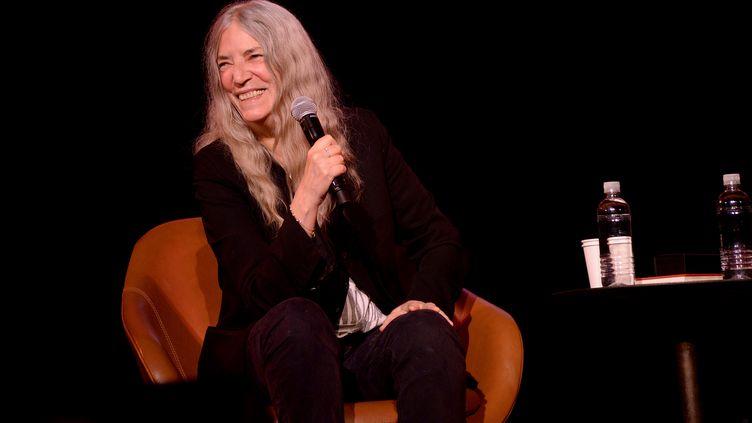 Patti Smith au New Yorker festival le 11 octobre 2019 à New York (Etats-Unis). (BRAD BARKET / GETTY IMAGES / AFP)