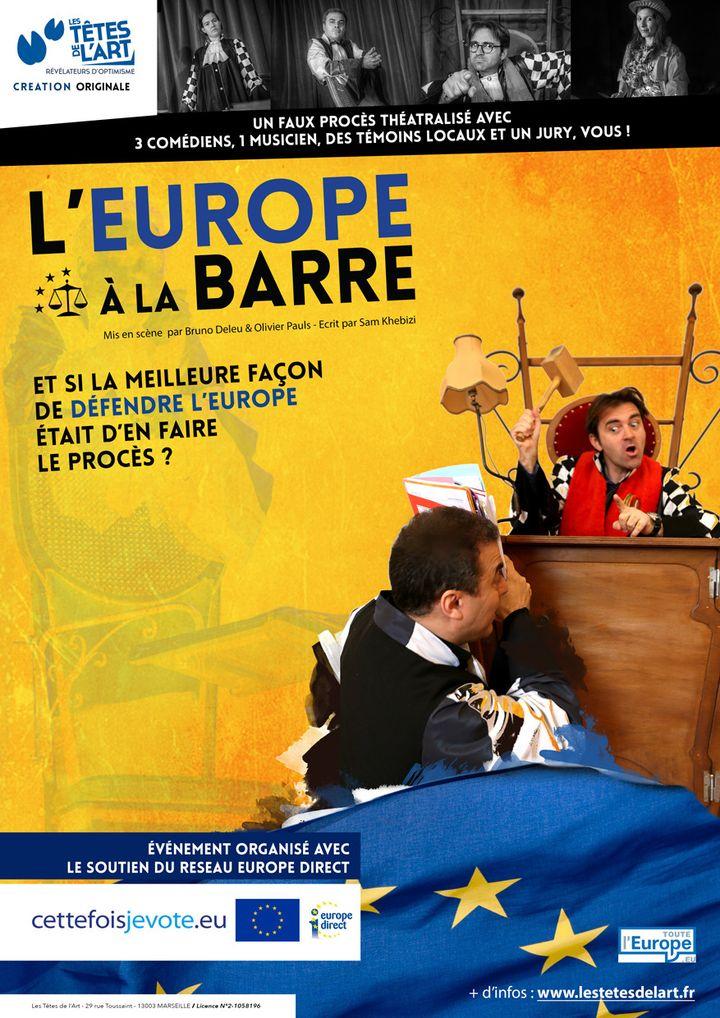 """L'affiche de la pièce """"L'Europe à la barre"""" (Association Les Têtes de l'Art)"""