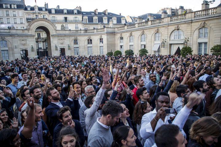 Fête de la musique à l'Elysée (21 juin 2018)  (Christophe Petit Tesson / pool / AFP)
