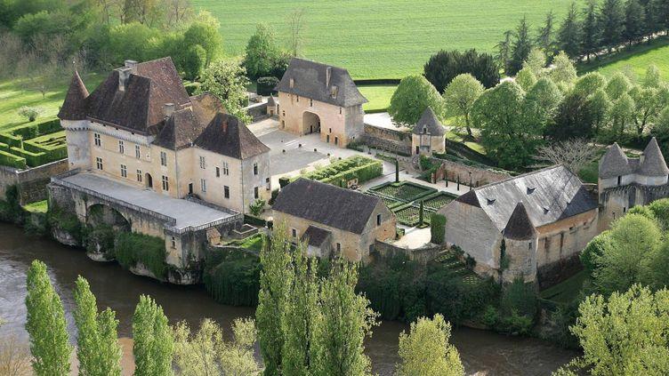 Vue aérienne du château de Losse  (PHOTOPQR/SUD OUEST)