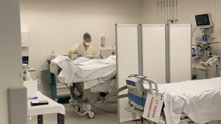 Le service de réanimation du Centre hospitalier Annecy-Genevois, en Haute-Savoie le 13 novembre 2020. (Illustration) (RICHARD VIVION / RADIO FRANCE)