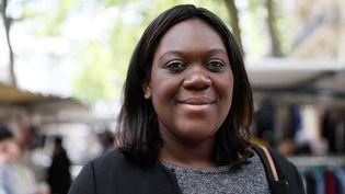 La députée LREM Laetitia Avia lors de la campagne des législatives, le 18 mai 2017 à Paris. (THOMAS SAMSON / AFP)
