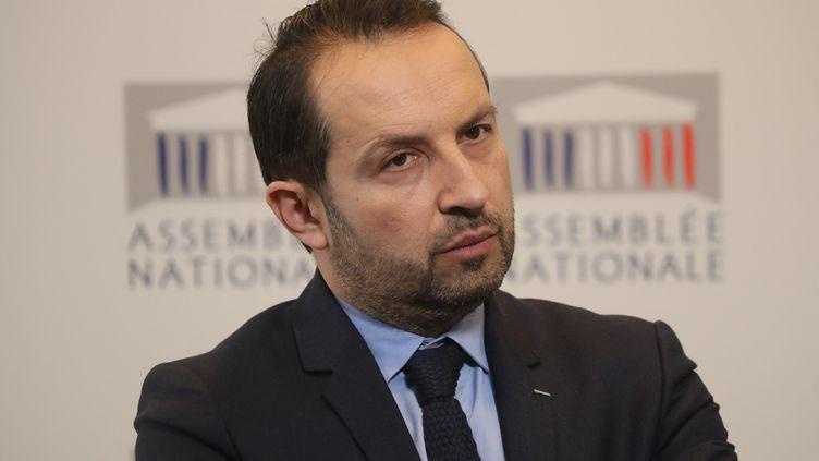 Sébastien Chenu, le porte-parole du Rassemblement national, à l'Assemblée nationale le 3 mars 2020. (LUDOVIC MARIN / AFP)