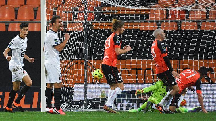Damien Da Silva a ouvert le score pour Rennes (LOIC VENANCE / AFP)
