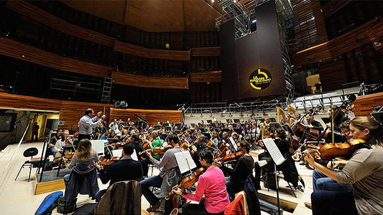 (Une première répétition à l'Auditorium © C. Abramowitz / Radio France - AS.Architecture-Studio)