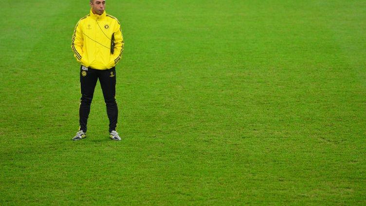 L'entraîneur du club de foot britanniqueChelsea, Roberto Di Matteo, le 19 novembre 2012 au stade de la Juventus àTurin (Italie). (GIUSEPPE CACACE / AFP)