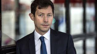 François-Xavier Bellamy, tête de liste Les Républicains pour les élections européennes de 2019. (CHRISTOPHE ARCHAMBAULT / AFP)