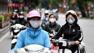 A Hanoï, capitale du Vietnam, le 23 avril 2020. (MANAN VATSYAYANA / AFP)