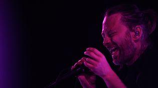 Thom Yorke sur scène.  (Patricia De Melo Moreira / AFP)