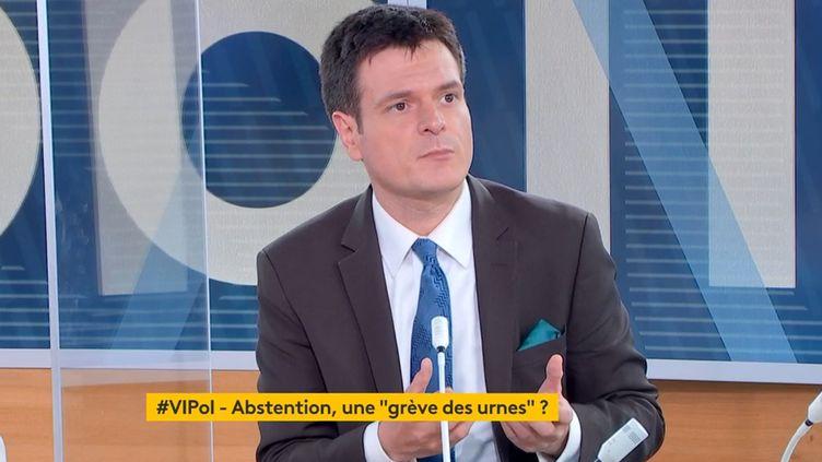 """Benjamin Morel, politologue,dans l'émission """"Votre instant politique"""" sur la chaine franceinfo,le22 juin 2021. (FRANCEINFO)"""
