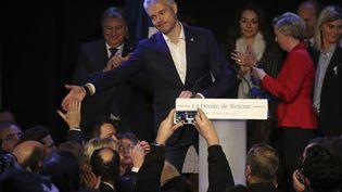 Laurent Wauquiez élu président des Républicains à Paris, le 10 décembre 2017. (JACQUES DEMARTHON / AFP)