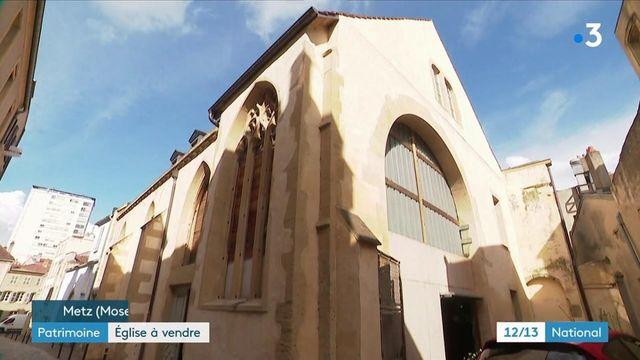 Patrimoine : une église mise en vente, à Metz
