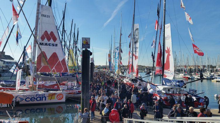 La foule quelques jours avant le départ du Vendée Globe au port des Sables d'Olonne, le 3 novembre 2016 (CECILIA ARBONA / RADIO FRANCE)