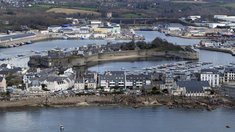 Photo aérienne de la ville close de Concarneau (illsutration). (MARCEL MOCHET / AFP)