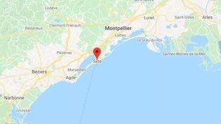 La commune de Sète dans l'Hérault. (GOOGLE MAPS / FRANCETV INFO)