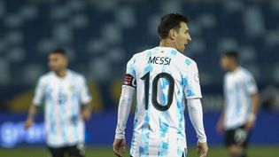 Lionel Messi face à la Bolivie le 28 juin lors du premier tour de la Copa America 2021. (GIL GOMES / AGIF / AFP)
