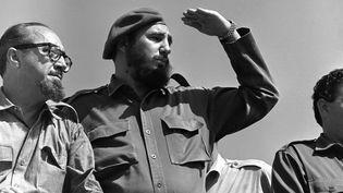 26 juillet 1962. Alors que la crise s'installe avec les Etats-Unis, Fidel Castro célèbre l'anniversaire de son mouvement. (PETER HEINZ JUNGE / DPA-ZENTRALBILD / AFP)