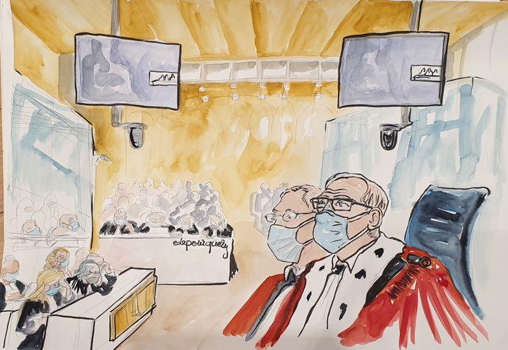 La cour d'assises spéciale de Paris, le 24 septembre 2020. (ELISABETH DE POURQUERY / FRANCEINFO)