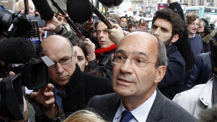 Eric Woerth arrive à la réunion extraordinaire de l'UMP au lendemain de l'élection présidentielle, le 7 mai 2012, à Paris. (FRANÇOIS GUILLOT / AFP)