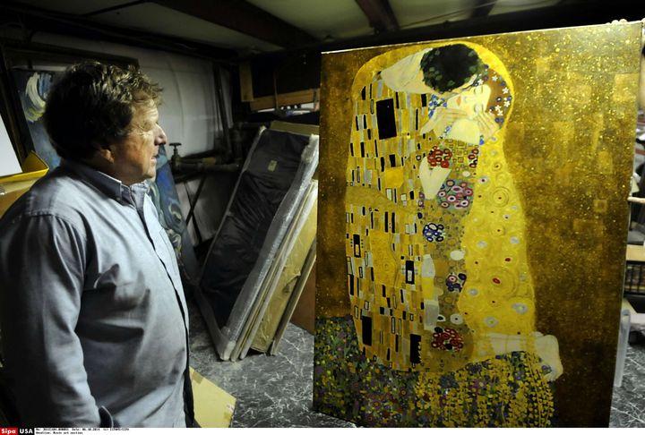"""""""Le Baiser"""" (1908-1909) Klimt  (SIPANY/SIPA)"""