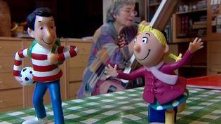 Bernadette Després et ses deux héros Tom-Tom et Nana  (France3 / Culturebox)