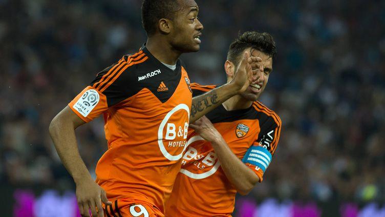 Jordan Ayew a inscrit un doublé contre son ancien club (BERTRAND LANGLOIS / AFP)