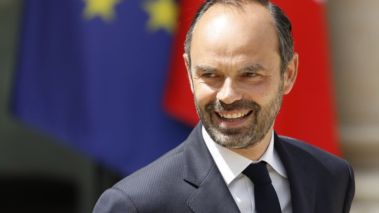 Le Premier ministre Edouard Philippe à la sortie du Conseil des ministres, à l'Elysée, le 31 mai 2017.  (PATRICK KOVARIK / AFP)