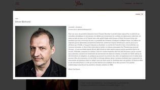 Capture d'écran de la page d'Olivier Bertrand sur Les Jours. (LESJOURS.FR)