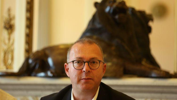 Damien Meslot, maire Les Républicains de Belfort, le 18 mai 2018. (LIONEL VADAM  / MAXPPP)