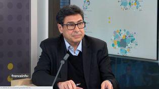 L'économistePhilippe Aghion, invité éco de franceinfo mardi 20 octobre 2020. (FRANCEINFO / RADIO FRANCE)