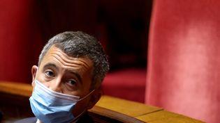 Le ministre de l'Intérieur, Gérald Darmanin, à l'Assemblée nationale, le 15 juin 2021. (THOMAS COEX / AFP)