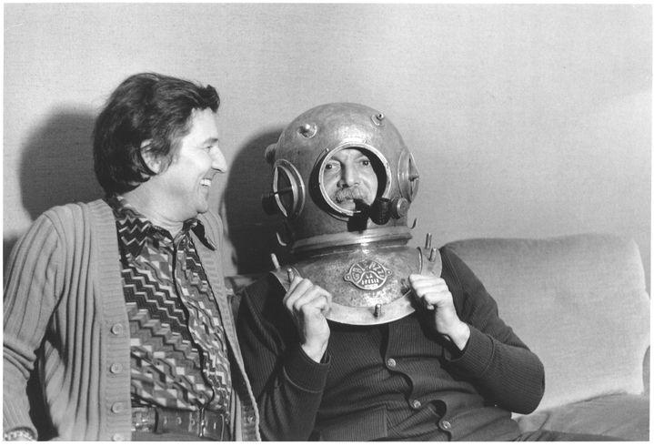 Georges Brassens avec Fred Mella en 1973. (ARCHIVES MELLA)