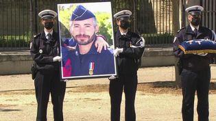 Un hommage national a été rendu au policier Éric Masson. (CAPTURE ECRAN FRANCE 3)