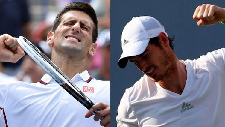 Novak Djokovic face à Andy Murray