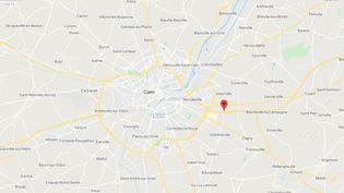 L'accident s'est produit sur l'A13 à hauteur de Giberville. (CAPTURE D'ECRAN GOOGLE MAPS)