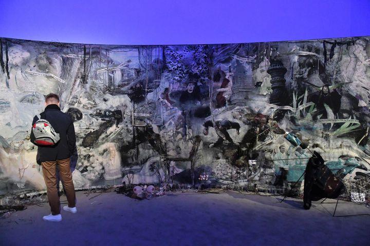 Exposition du travail de l'artiste Laure Prouvost à la 58e édition de la Biennale d'art contemporain de Venise, le 7 mai 2019 (FELIX H?RHAGER / DPA)