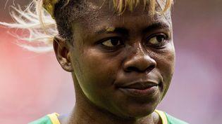 La footballeuse camerounaiseGaëlle Enganamouit, à Vancouver (Canada), le 12 juin 2015. (MAXPPP)