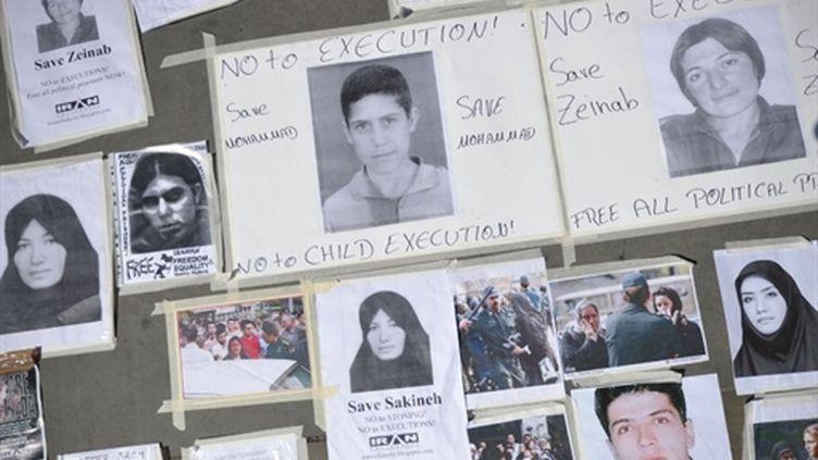 Démonstration de soutien à Londres aux condamnés iraniens, dont Sakineh Mohammadi-Ashtiani. Juillet 2010. (AFP - Carl Court)