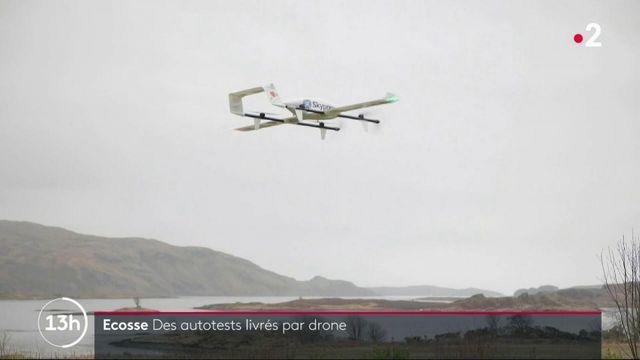 Ecosse : des tests Covid livrés par drone dans les zones reculées