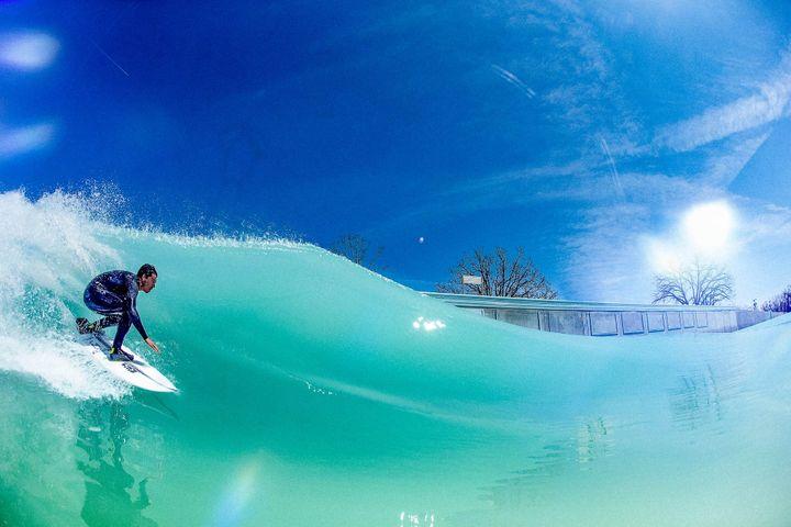 Image d'illustration utilisée sur le site édité par les promoteurs de la société Nouvelle vague pour présenter le projet de surf park. (SOCIETE NOUVELLE VAGUE)