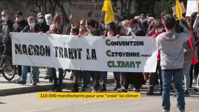 """Climat : 110 manifestants pour une """"vraie"""" loi"""