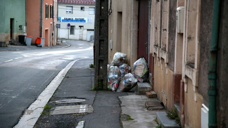 Des poubelles à Thionville (Moselle), le 14 août 2017. Image d'illustration. (MAXPPP)