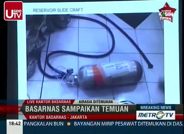 (Une bouteille retrouvée © Capture d'écrans MetroTV)