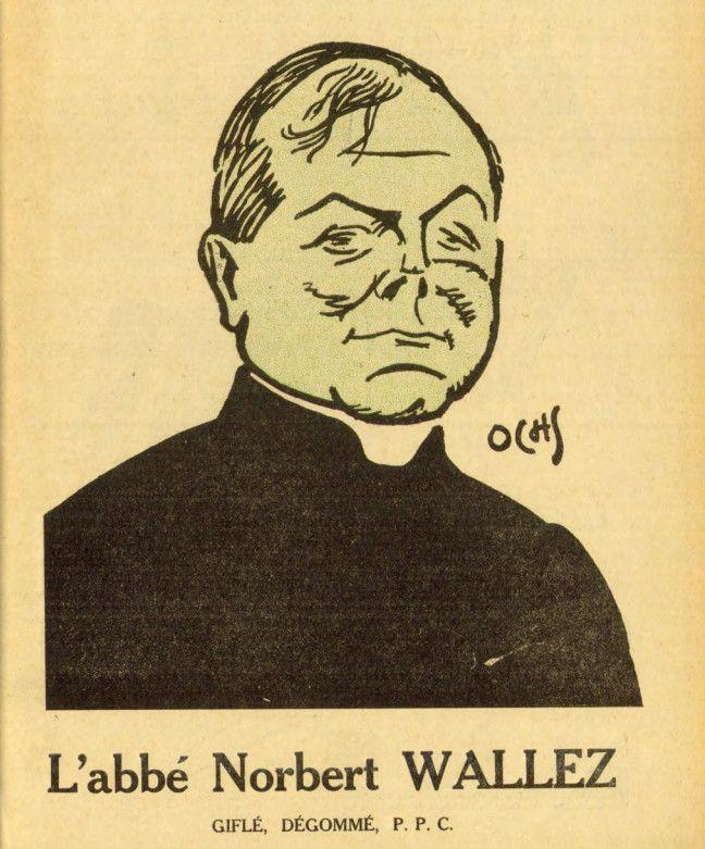 """Caricature de l'abbé Norbert Wallez en couverture de l'hebdomadaire belge """"Pourquoi pas ?"""", le 14juillet1933. Le dessin est signé Jacques Ochs. (JACQUES OCHS / POURQUOI PAS)"""