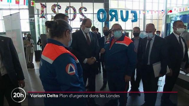 Covid-19 : la variant Delta gagne du terrain dans les Landes, Jean Castex annonce un plan d'urgence