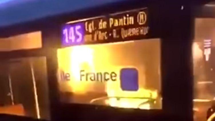 Capture d'écran d'une vidéo de la scène relayée sur les réseaux sociaux. (DR)
